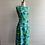 Thumbnail: 1960s Silk Flower Power Wiggle Dress - Medium