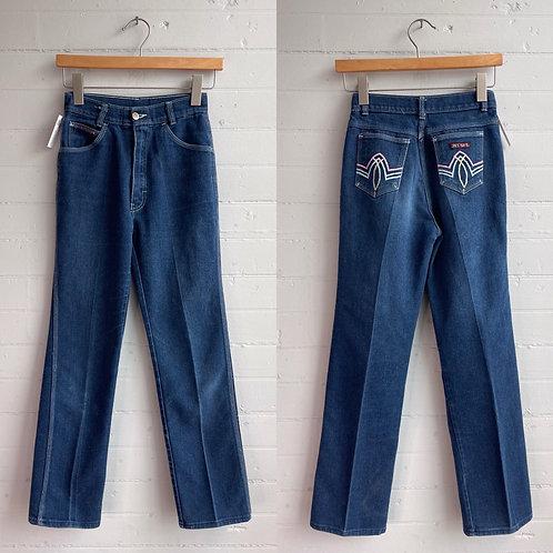"""1980s Dark Wash Jeans - 24"""" Waist"""