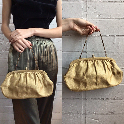 1960s Gold Handbag
