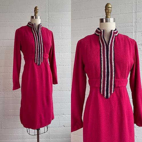 1970s Hot Pink Dress - Medium