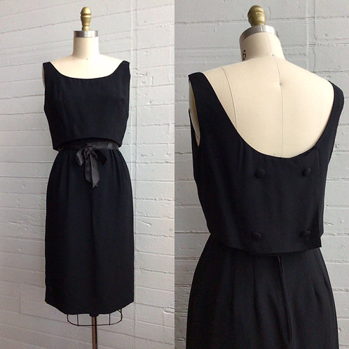 1950s / 60s Little Black Dress - Small