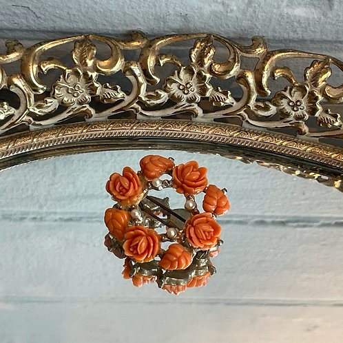 Vintage Flower Wreath Pin