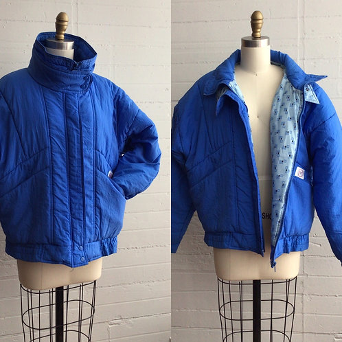 1980s Blue Puffer Coat - Large / Xlarge