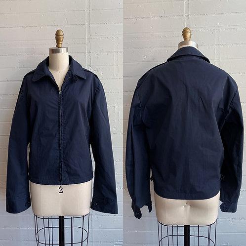 1980s Navy Blue Canvas Jacket - Large / XL