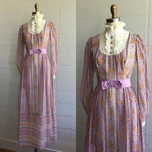 1970s Maxi Dress - XSmall / Small