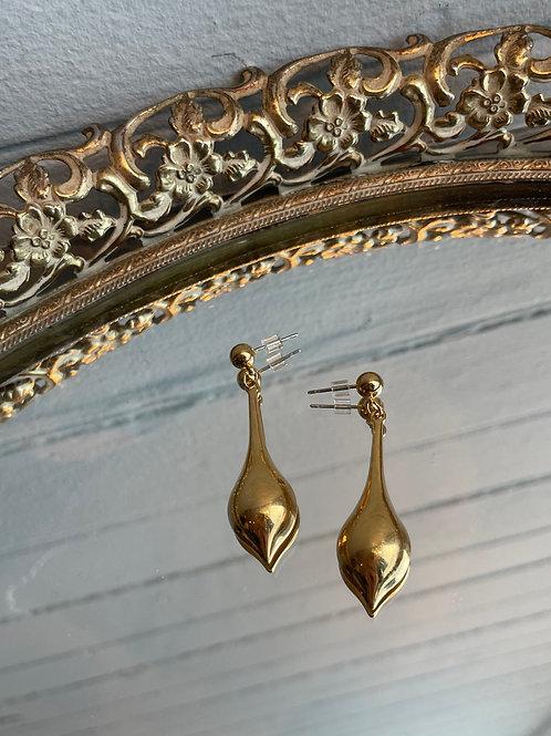 Gold Tone Vintage Drop Studs