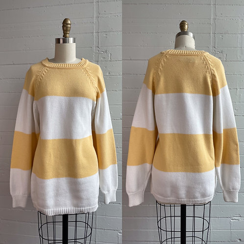 1990s Stripe Spring Sweater - Small / Medium / Large