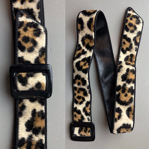 1980s Leopard Print Belt