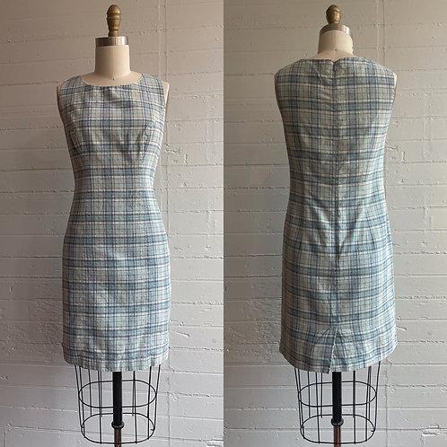 90s Plaid Mini Dress - Small