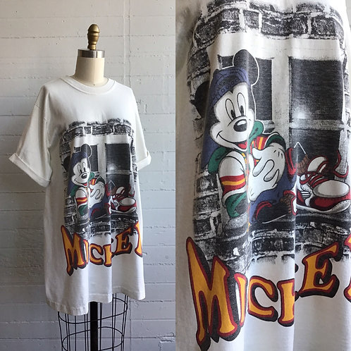 1980s Mickey Mouse Oversized Tee - Large / XL
