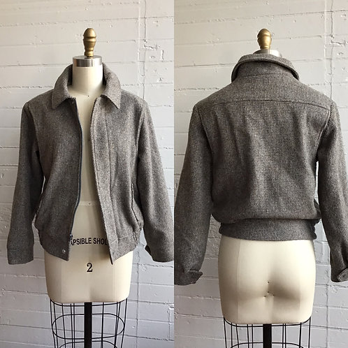 1990s Grey Members Only Jacket - Small