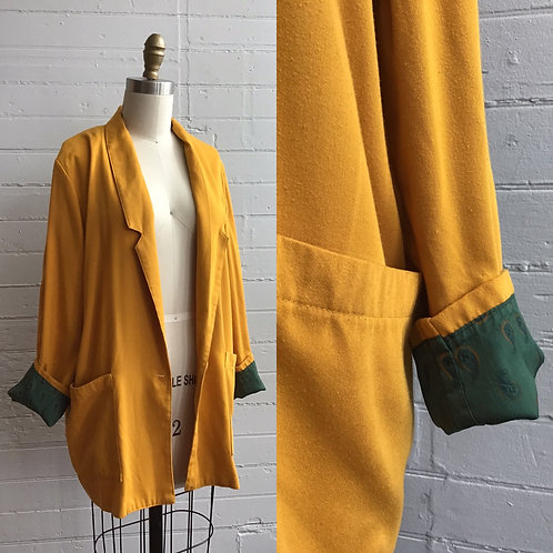 1980s Mustard Fall Blazer - Medium Large Xlarge