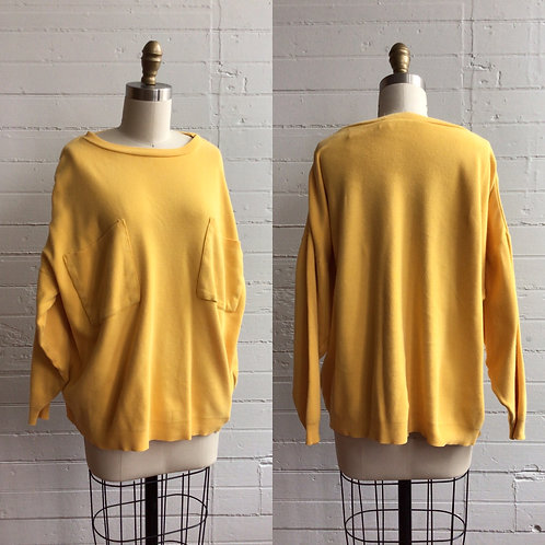 1980s Oversized Yellow Sweatshirt - Large / Xlarge