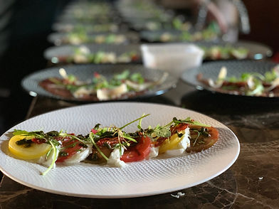 plat cuisisné par le chef au restaurant la table de green à Angers green traiteur