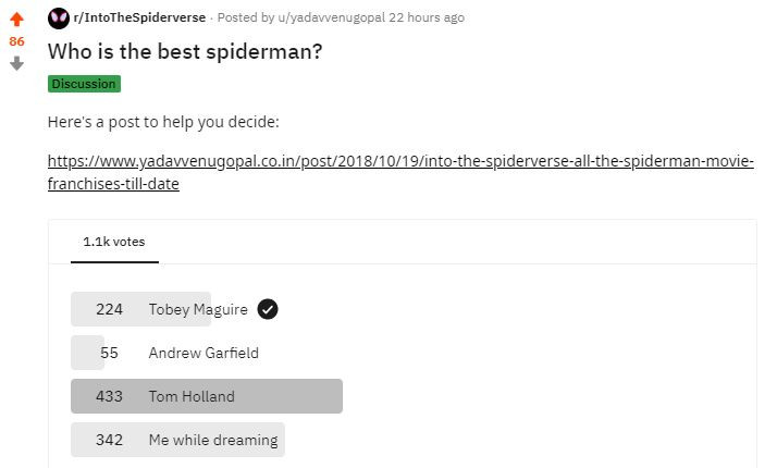 Who's the best Spiderman?