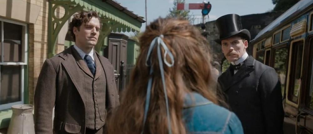Henry Cavill and Sam Claflin as Sherlock and Mycroft