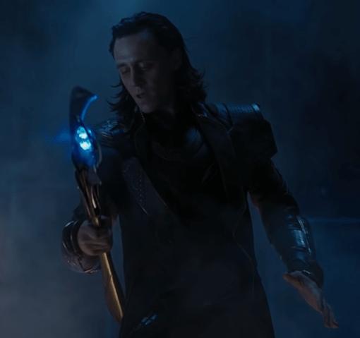 Loki with the sceptre