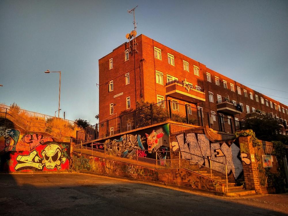 Graffiti made beautiful by Sunlight