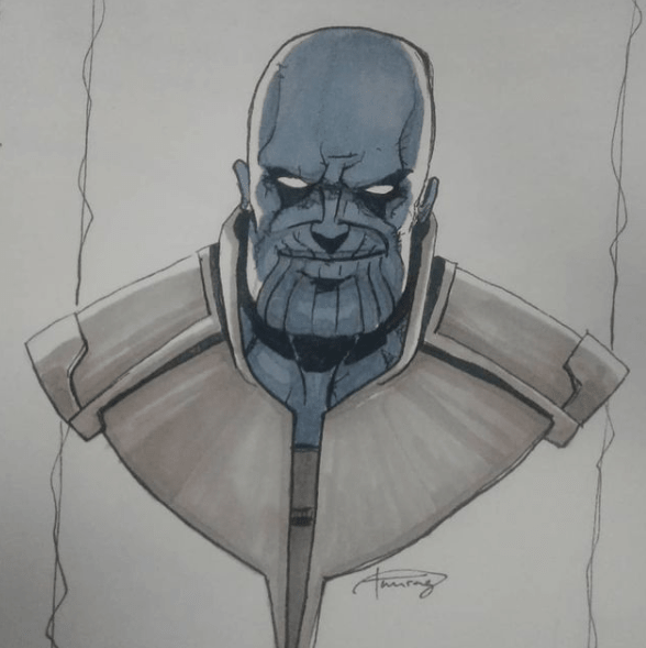 Thanos painting by Anurag