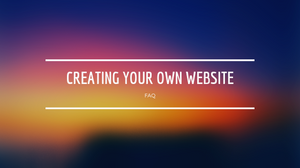FAQ for Website Creation
