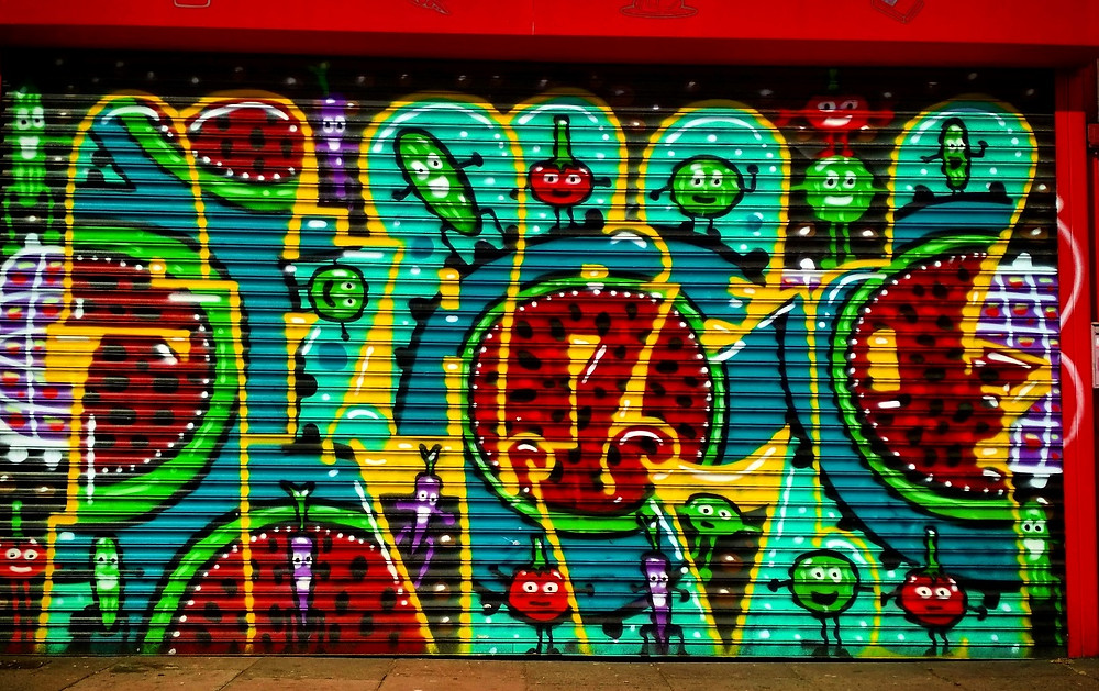 Graffiti on shutters