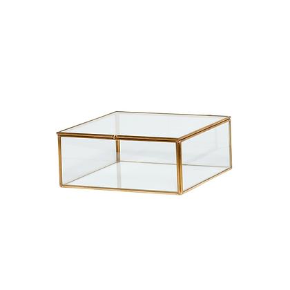 Glasdose Klarglas mittelgroß