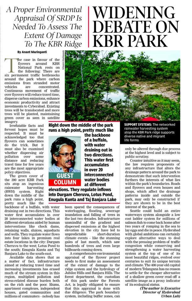 Save KBR National Park in Hyderabad