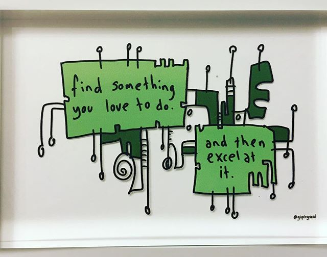 Great words of wisdom from _gapingvoid #pazienza #wine #greatness