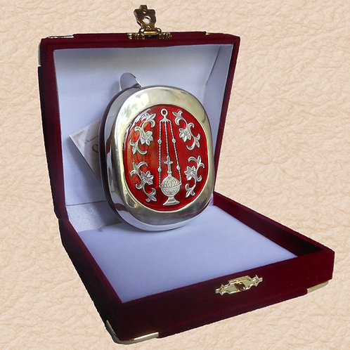 Ладаница Серебро красная эмаль.