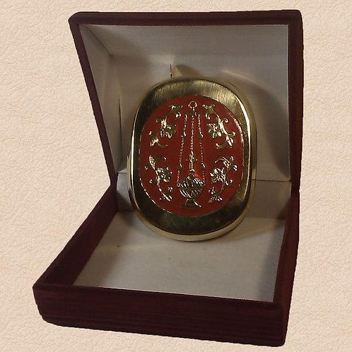 Ладаница латунная красная холодная эмаль
