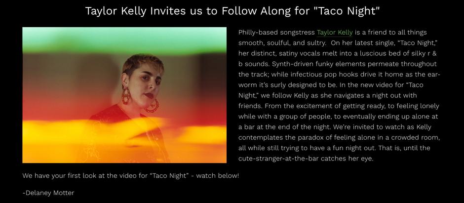 Phluff   Taylor Kelly - Taco Night (Music Video)