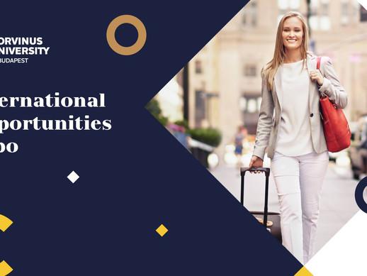 International Opportunities Expo at Corvinus