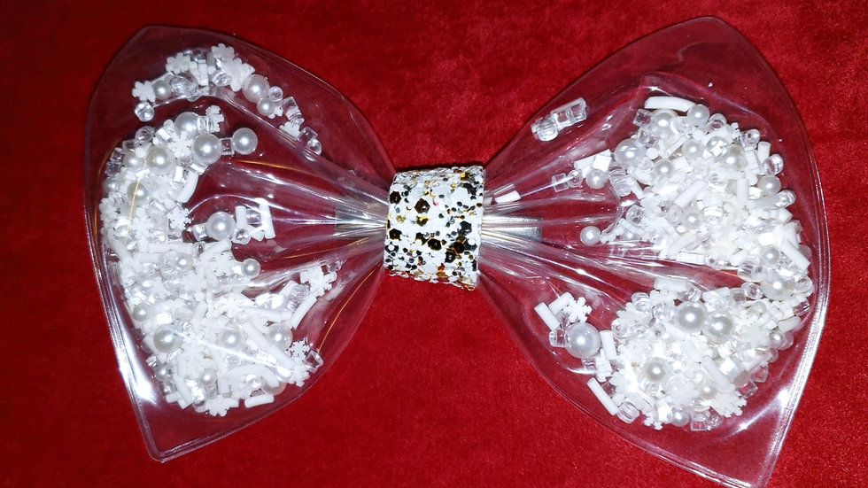 Holiday Snowflake Shaker Hair bow
