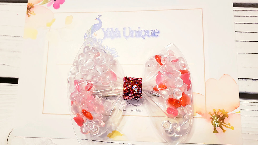 Valentine Ice Cold Heart Shaker Hair Bows