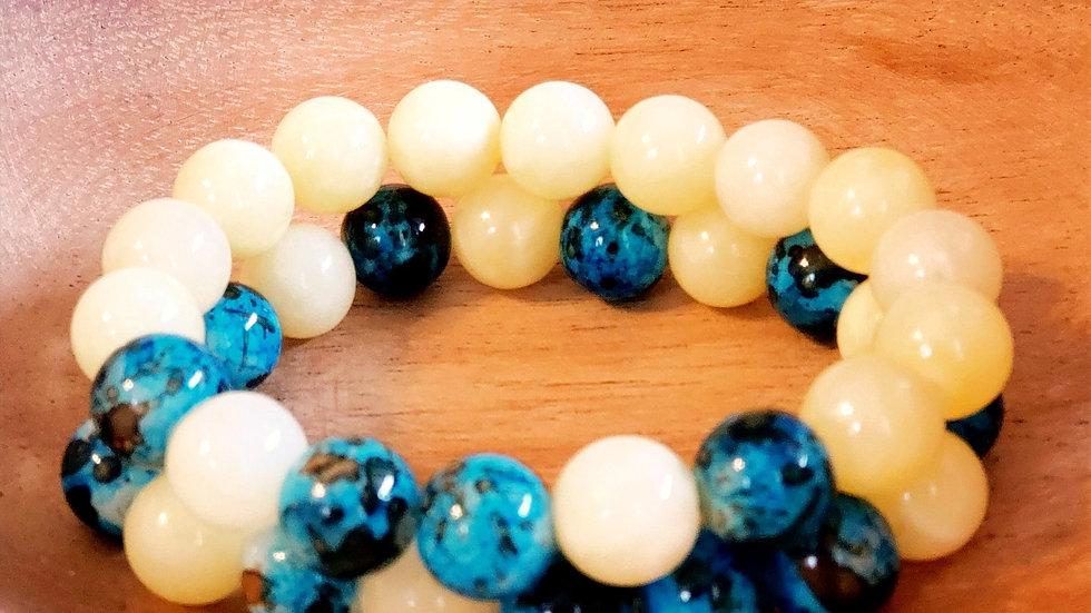 Blue Raspberry Lemon Bracelet Set