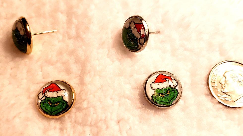 Holiday Christmas Thief Earrings
