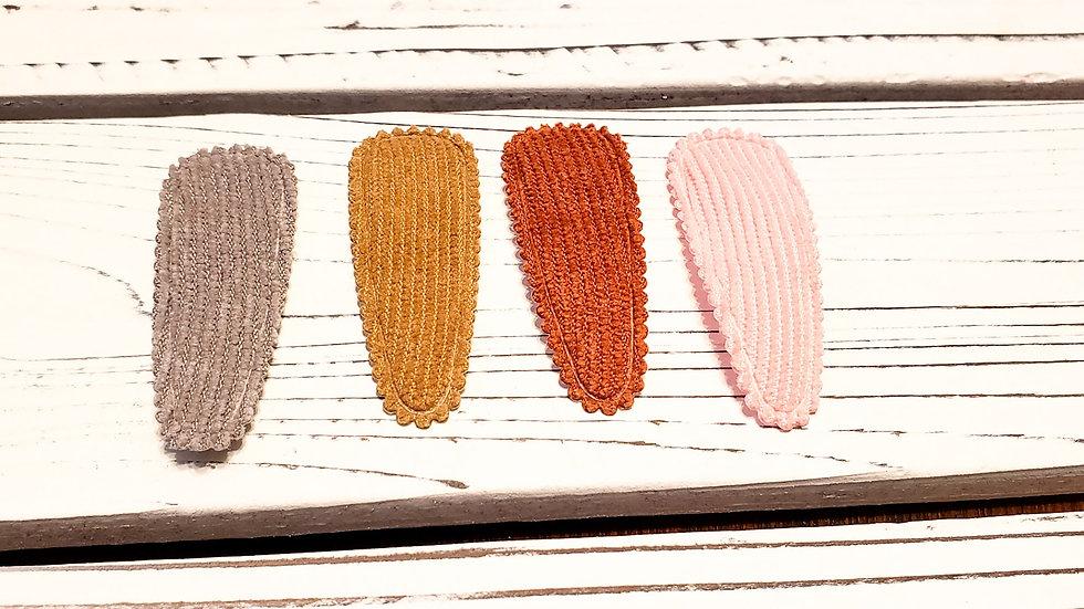 Corduroy Fall Hair clips