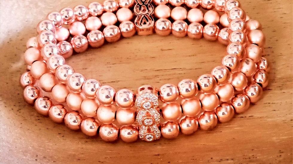 Rose Gold Hematite Bracelet