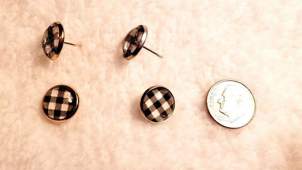 Holiday Plaid Earrings