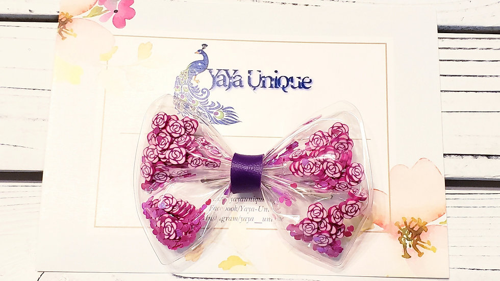 Valentine Flower Love Shaker Hair Bows