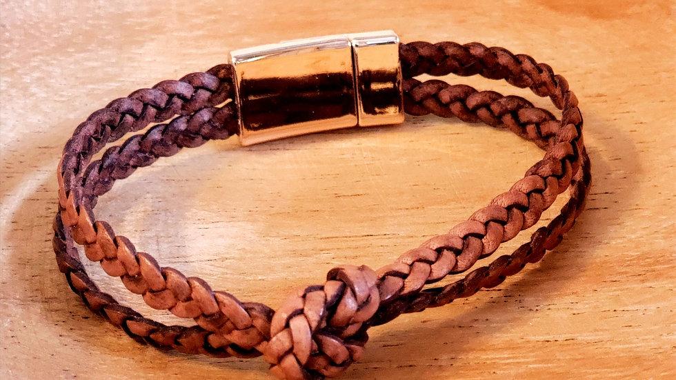 Leather Knot Bracelet