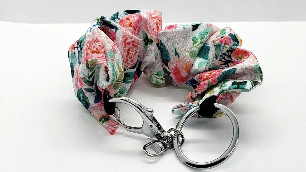 Scrunchie Keychain,  Flower Blooms