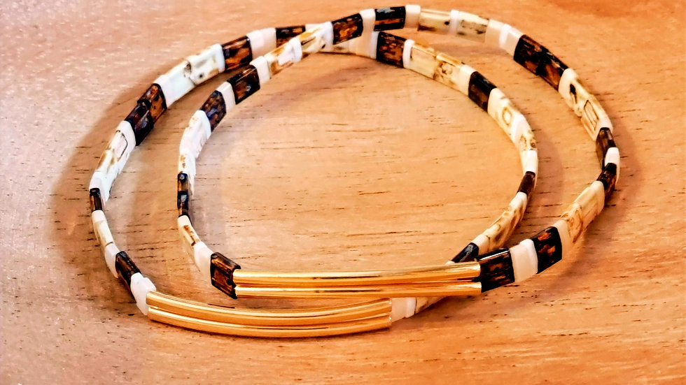 Dainty Tila Bead Bracelet