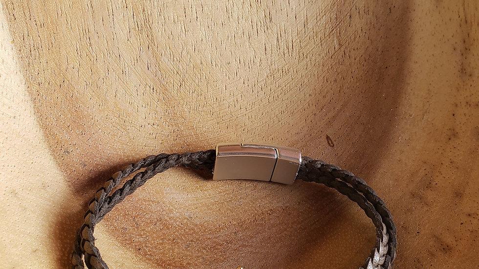 Leather Multi Strand Crown Bracelet