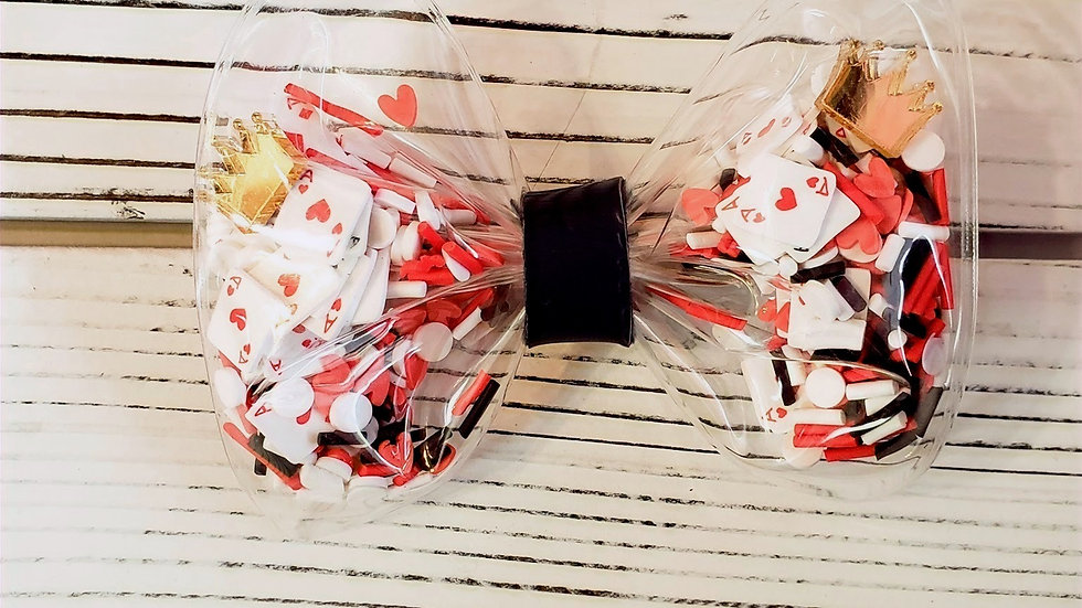 Red Queen from Alice in Wonderland Inspired Shaker Hair bow