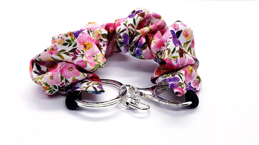 Scrunchie Keychain, Smell the Flowers