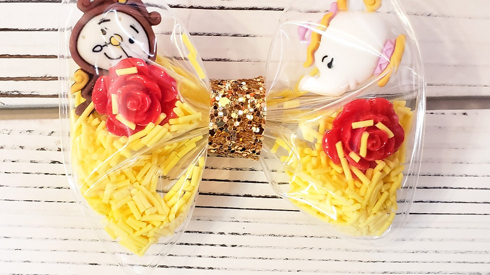 Beauty and the Beast Inspired Shaker Hair bow