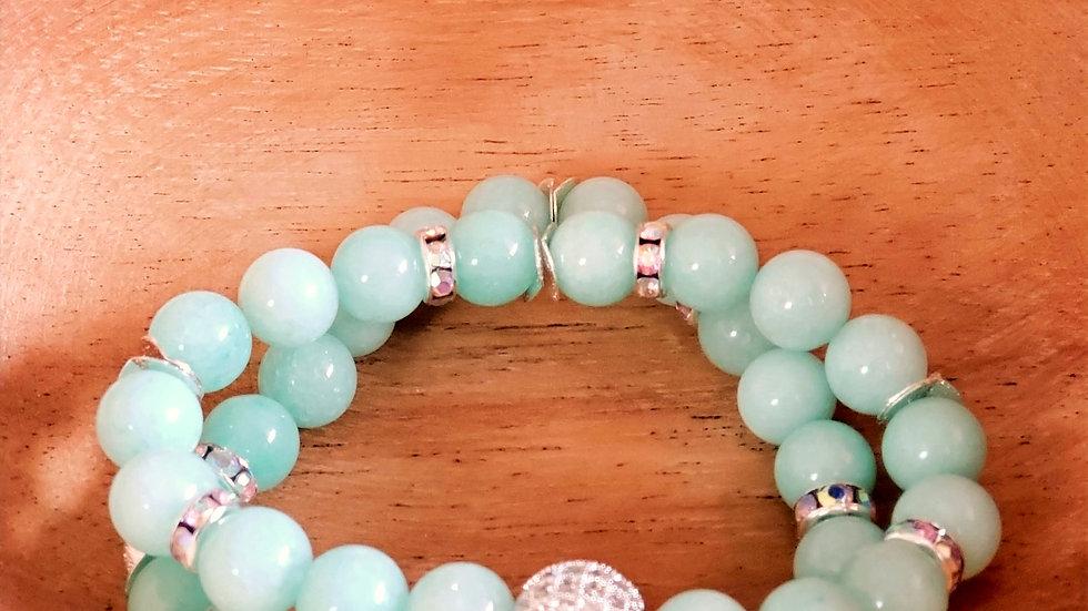 Aqua Sparkle Bracelet Set