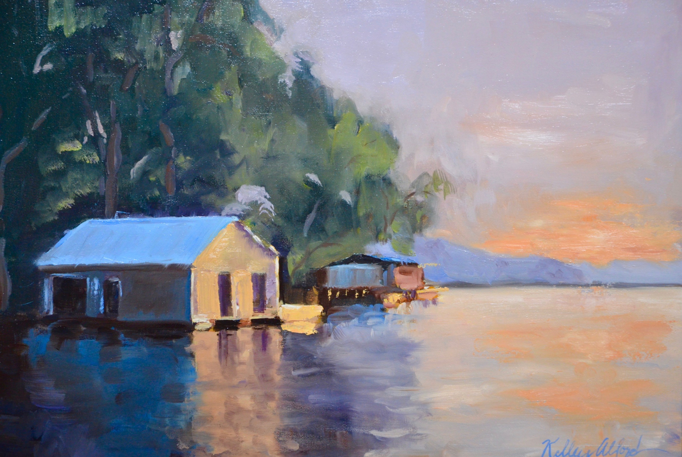 Kelly Alford, Bboathouse, OIlm 16 x 20,