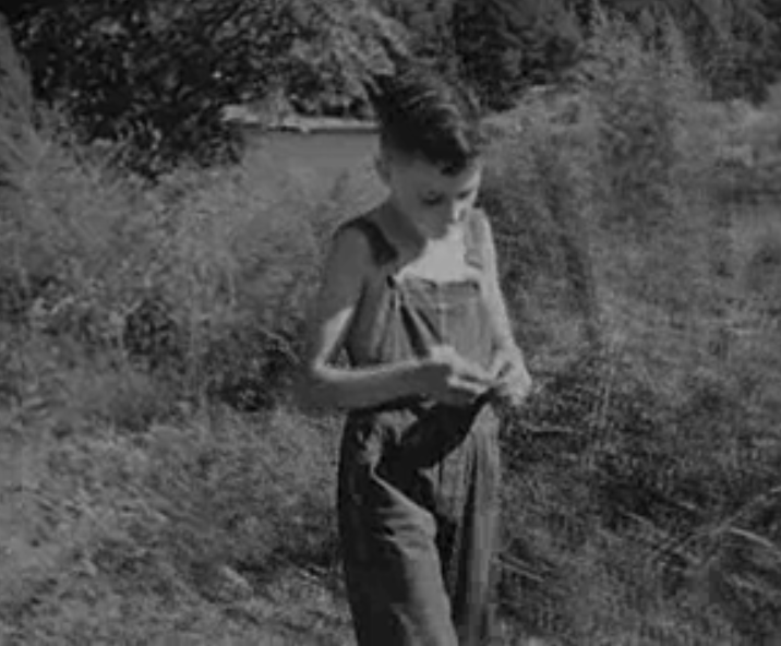 Wayne Helms as a Young Boy